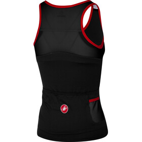 Castelli Solare Top sin Mangas Mujer, black/red